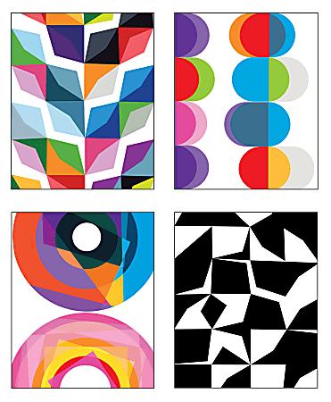 "Inkology Poly 2-Pocket Portfolios, 9-1/2"" x 11-3/4"", Assorted Designs, Pack Of 12 Portfolios"