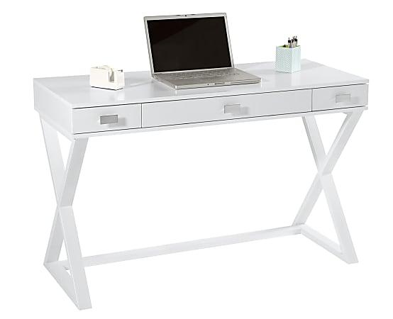 """Realspace® Keri 48""""W Writing Desk, White"""