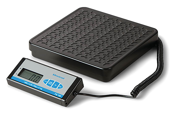 """Brecknell® PS150 Bench Scale With Display, 10""""H x 12""""W x 11 3/4""""D, 150 Lb, Black"""