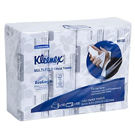 Kleenex® Multi-Fold 1-Ply Paper Towels, 150 Per Pack, Case Of 4 Packs