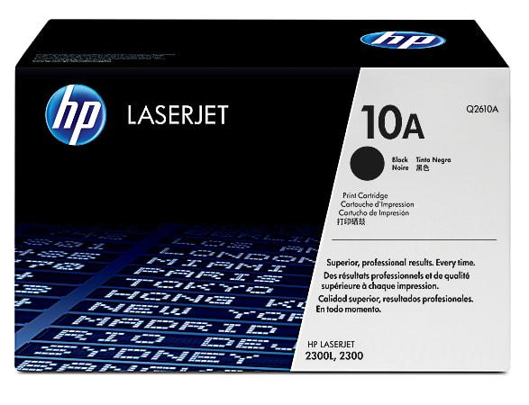 HP 10A, Black Original Toner Cartridge (Q2610A)