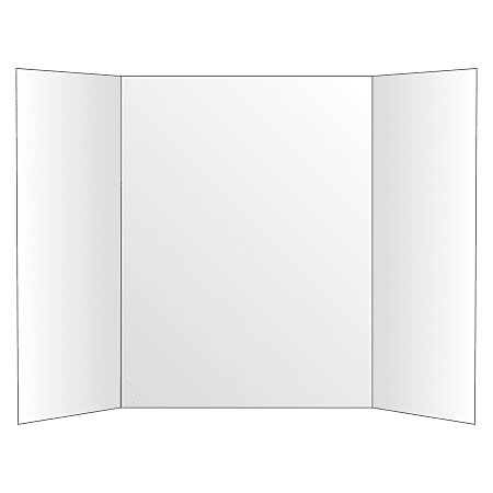 "Office Depot® Brand Tri-Fold Project Board, 36"" x 48"", White"