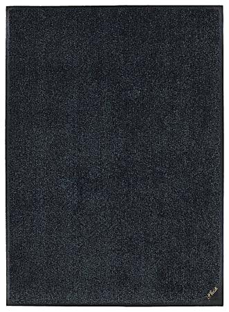 "M + A Matting Colorstar Plush Floor Mat, 36"" x 60"", Slate Gray"