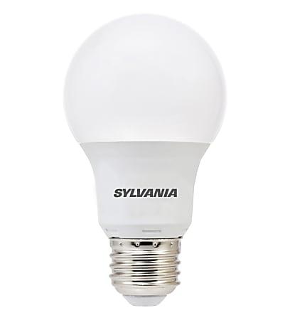 Sylvania A19 450 Lumens LED Bulbs, 6 Watt, 5000 Kelvin/Daylight, Pack Of 6 Bulbs