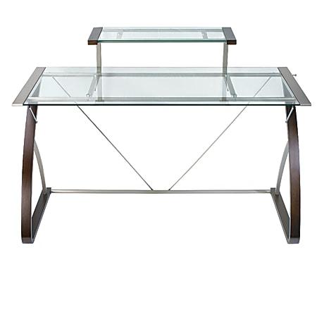 Realspace® Merido Main Desk, Espresso/Silver