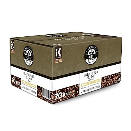 Executive Suite® Coffee Single-Serve Coffee K-Cup®, Breakfast Blend, Carton Of 70