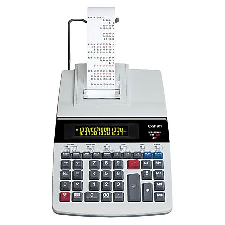 Canon MP41DHIII Printing Calculator, Black/Red