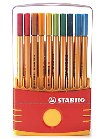 Stabilo Point 88 Pens, Color Parade Adjustable, Set Of 20 Pens