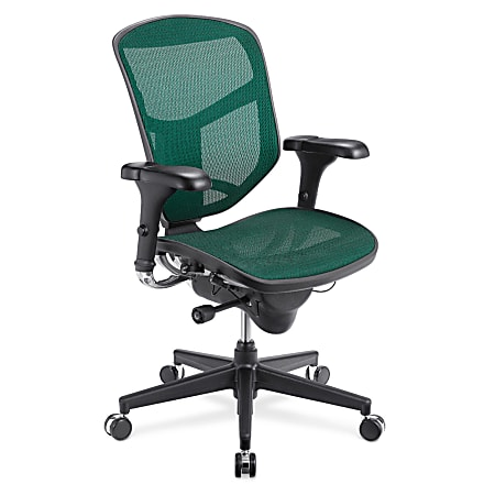 WorkPro® Quantum 9000 Series Ergonomic Mesh/Mesh Mid-Back Chair, Green/Black