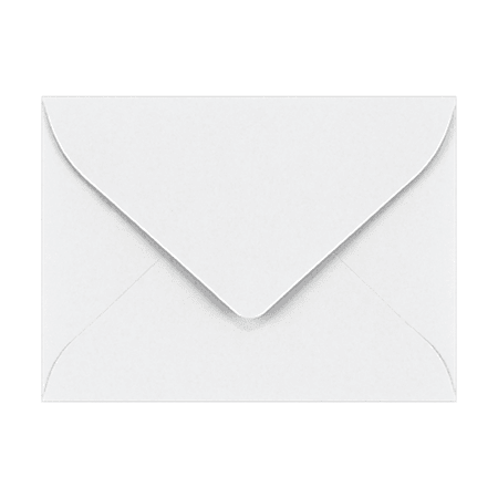 """LUX Mini Envelopes With Moisture Closure, #17, 2 11/16"""" x 3 11/16"""", Bright White, Pack Of 1,000"""