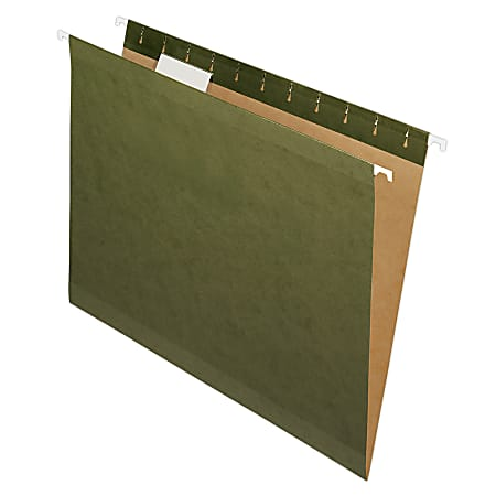 Pendaflex® Premium Reinforced Hanging File Folders With Tabs, Letter Size, Standard Green, Pack Of 25 Folders