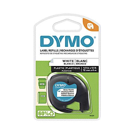 """DYMO® LT 91331 Black-On-White Tape, 0.5"""" x 13'"""