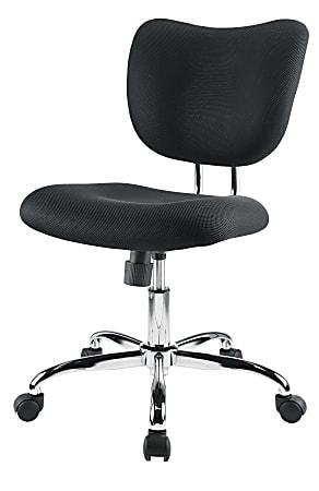 Brenton Studio® Jancy Mesh Low-Back Task Chair, Black/Chrome