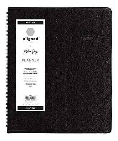"""Blue Sky™ Aligned PAJCO® Monthly Planner, 9"""" x 11"""", Multicolor, January to December 2021, 123849"""