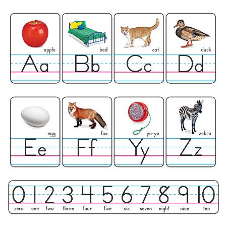 TREND Alphabet Line Bulletin Board Set, Photo Alphabet Cards, Zaner-Bloser Manuscript, Pre-K To Grade 2