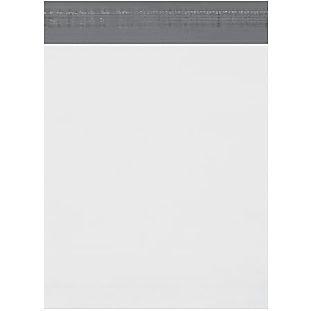 """Office Depot® Brand Expansion Poly Mailers, 11""""H x 13""""W x 2""""D, White, Case Of 100"""