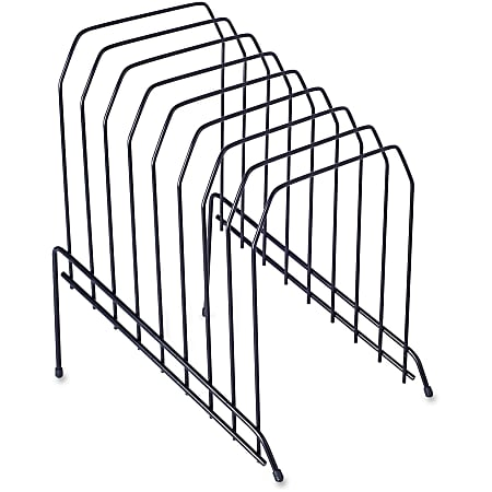 Lorell® Wire Step File, 8-Dividers, Black