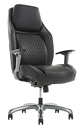 Shaquille O'Neal™ Zephyrus Ergonomic Bonded Leather High-Back Executive Chair, Black