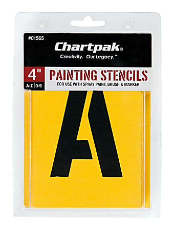 """Chartpak Pickett Painting Stencils, Numbers/Letters, 4"""""""