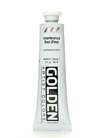 Golden Acrylic Paint, Fine, 2 Oz, Interference Red