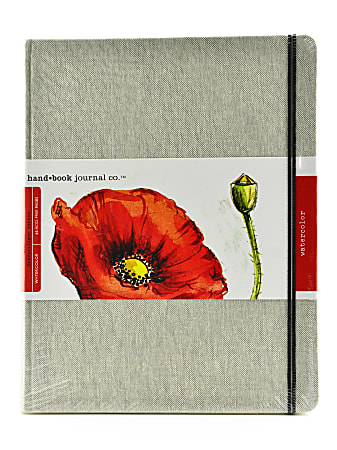 """Hand Book Journal Co. Travelogue Watercolor Journal, 10 1/2"""" x 8 1/4"""", 60 Pages (30 Sheets)"""