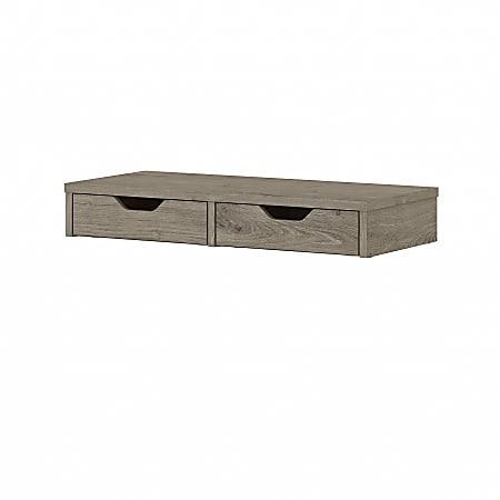 Bush® Furniture Key West Desktop Organizer With Drawers, Shiplap Gray, Standard Delivery