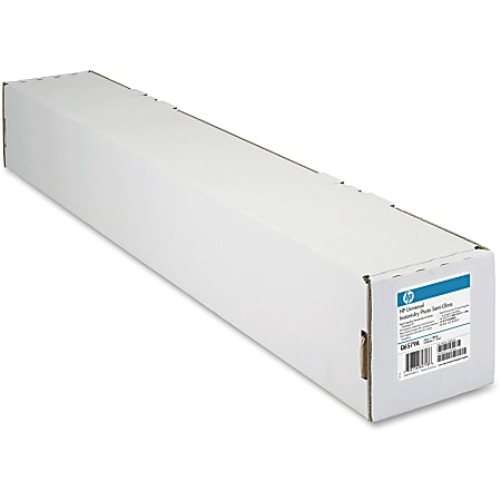 """HP Designjet Large-Format Instant Dry Semigloss Photo Paper Roll, 24"""" x 100', 50.5 Lb, FSC Certified, White"""