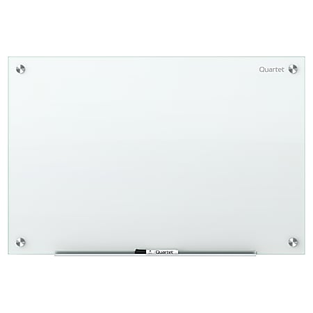 """Quartet® Infinity™ Unframed Glass Non-Magnetic Dry-Erase Whiteboard, 72"""" x 48"""", White"""