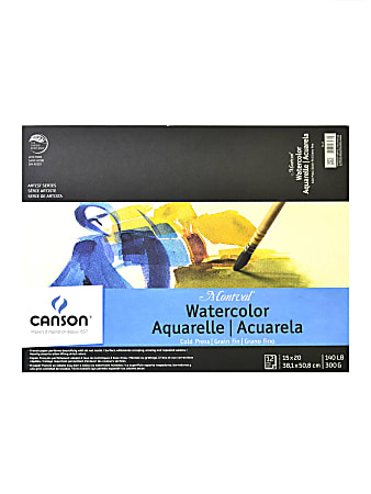 """Canson Montval® Watercolor Paper, 15"""" x 20"""", 12 Sheets"""