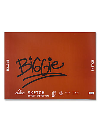 """Canson Biggie Sketch Pad, 18"""" x 24"""", Pack Of 120 Sheets"""