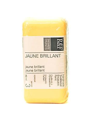 R & F Handmade Paints Encaustic Paint Cake, 40 mL, Juane Brilliant
