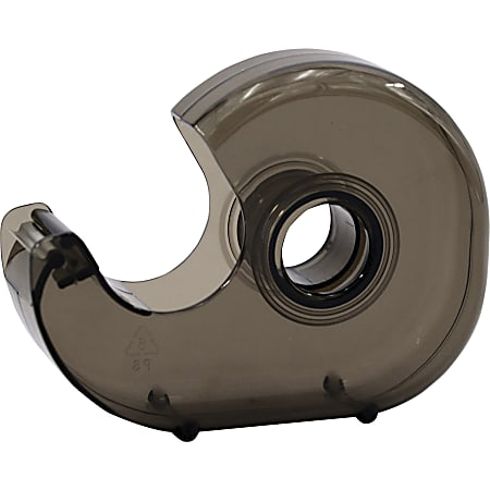 "Business Source Handheld Tape Dispenser - 1"" Core - Portable, Lightweight, Retractable Blade, Translucent - Plastic - Smoke - 1 Each"