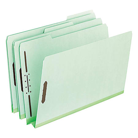 """Pendaflex® Pressboard Expanding Folders, 2"""" Expansion, 8 1/2"""" x 11"""", Letter Size, 75% Recycled, Green, Box Of 25 Folders"""