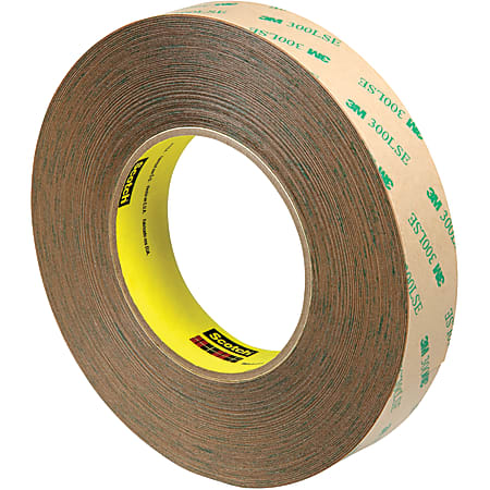 """Scotch® 9472LE Adhesive Transfer Tape Hand Rolls, 3"""" Core, 1"""" x 60 Yd., Clear, Case Of 3"""