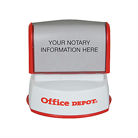 "Custom Office Depot® Brand Pre-Inked Notary Stamp, 1-9/16"" Diameter"
