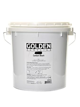 Golden Heavy Body Acrylic Paint, 128 Oz, Carbon Black