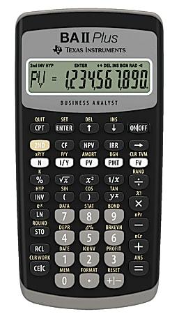 Texas Instruments® BA II Plus Financial Calculator