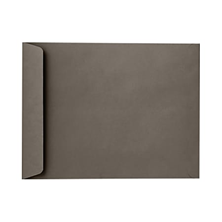 "LUX Open-End Envelopes With Peel & Press Closure, #9 1/2, 9"" x 12"", Smoke Gray, Pack Of 50"