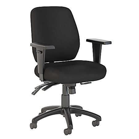 Bush Business Furniture Prosper Mid Back Multifunction Office Chair, Black Fabric, Standard Delivery