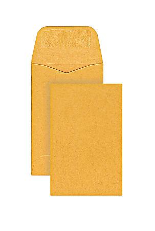 Office Depot® Brand Coin Envelopes, #1, Gummed Seal, Manila, Box Of 500