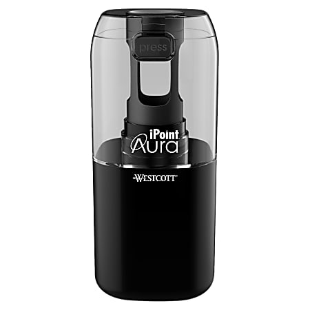 """Westcott iPoint Aura Electric Pencil Sharpener, 7-3/4""""H x 4-1/2""""W x 2-1/2""""D, Assorted Colors"""