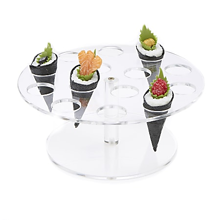 """Mind Reader Acrylic 14-Compartment Ice Cream Cone Holder, 9-3/4"""" x 4-1/4"""", Clear"""