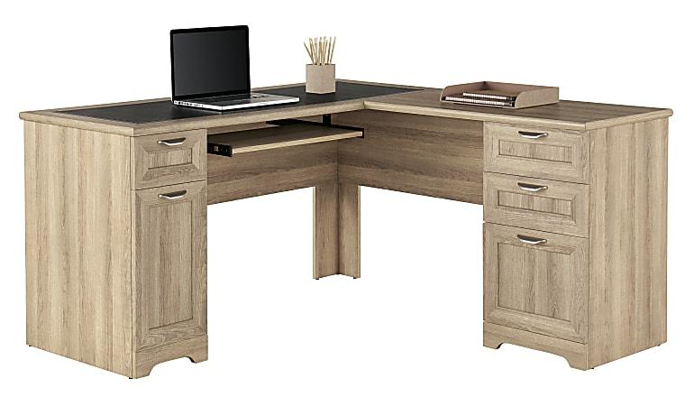"Realspace® Magellan 59""W L-Shape Corner Desk, Blonde Ash"