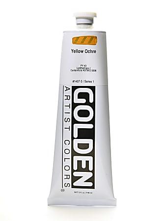 Golden Heavy Body Acrylic Paint, 5 Oz, Yellow Ochre