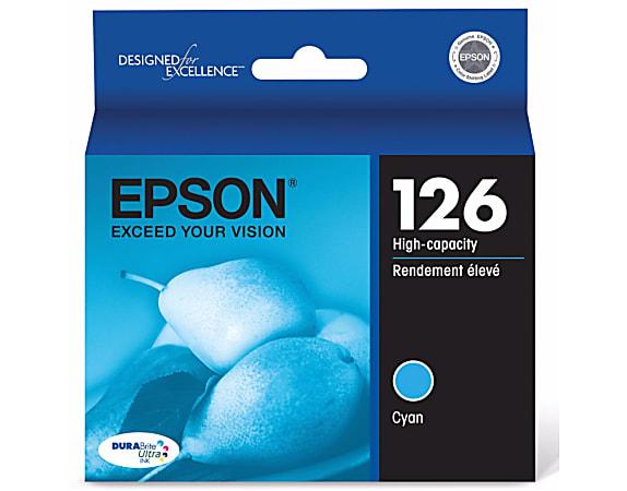 Epson® 126 DuraBrite® Ultra High-Yield Cyan Ink Cartridge, T126220
