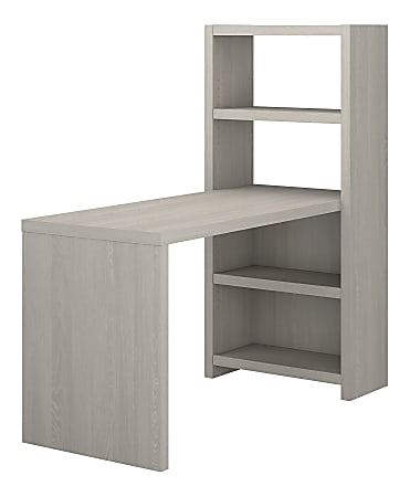 """kathy ireland® Office by Bush Business Furniture Echo 56""""W Bookcase Desk, Gray Sand, Standard Delivery"""