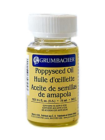 Grumbacher Poppyseed Oil, 2.5 Oz, Pack Of 2