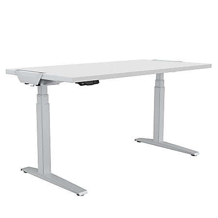 "Fellowes® Levado Height-Adjustable Desk, 72""W, White"