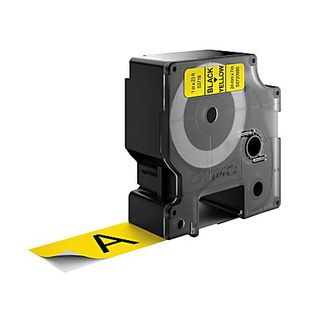 "DYMO® D1 53718 Black-On-Yellow Tape, 1"" x 23'"
