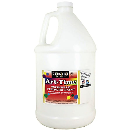 Sargent Art® Art-Time Washable Tempera Paint, 1 Gallon, White